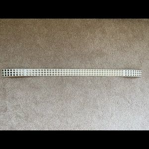Urban Outfitters White Studded Snap Belt S/M